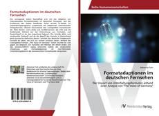 Portada del libro de Formatadaptionen im deutschen Fernsehen