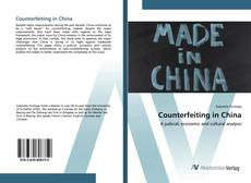 Bookcover of Counterfeiting in China