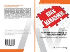 Portada del libro de Risikoberichterstattung als Prognoseinstrument