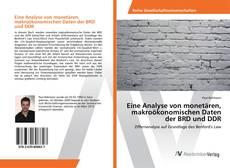 Couverture de Eine Analyse von monetären, makroökonomischen Daten der BRD und DDR