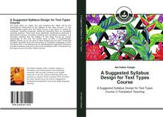 Portada del libro de A Suggested Syllabus Design for Text Types Course