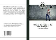 Buchcover von What is the model of the best manager?