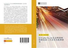 SrAl₂O₄:Eu,Dy长余辉材料的制备新工艺及发光机理研究 kitap kapağı