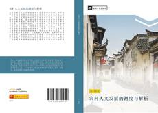 Bookcover of 农村人文发展的测度与解析