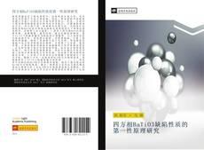 四方相BaTiO3缺陷性质的第一性原理研究 kitap kapağı