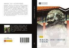 雾锁共和:1916—1924年的中国宪政的封面