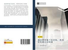 弱法律环境下民营化、再国有化和公司绩效 kitap kapağı