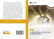 Portada del libro de 沉管隧道基础注浆效果等比例模型试验研究