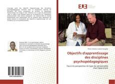 Couverture de Objectifs d'apprentissage des disciplines psychopédagogiques