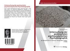 Capa do livro de Untersuchung der postmortalen psychoanalytischen Psychobiographik
