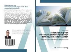 Portada del libro de Bilanzierung von Personalrückstellungen nach dem neuen Fachgutachten