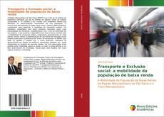 Portada del libro de Transporte e Exclusão social: a mobilidade da população de baixa renda