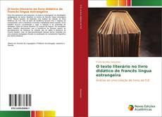 Capa do livro de O texto literário no livro didático de francês língua estrangeira