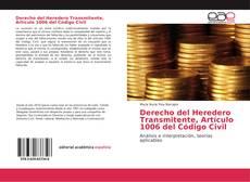 Bookcover of Derecho del Heredero Transmitente, Artículo 1006 del Código Civil
