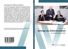 Buchcover von Beiträge der Elektromobilität