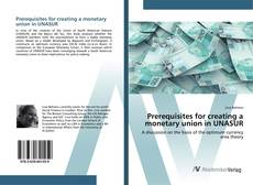 Buchcover von Prerequisites for creating a monetary union in UNASUR