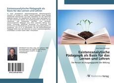 Capa do livro de Existenzanalytische Pädagogik als Basis für das Lernen und Lehren