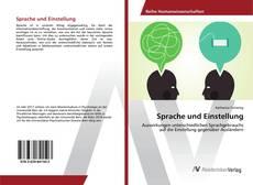 Capa do livro de Sprache und Einstellung