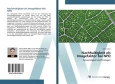 Bookcover of Nachhaltigkeit als Imagefaktor bei NPO