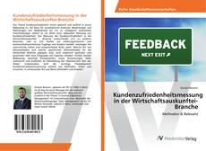 Capa do livro de Kundenzufriedenheitsmessung in der Wirtschaftsauskunftei-Branche
