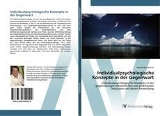 Bookcover of Individualpsychologische Konzepte in der Gegenwart