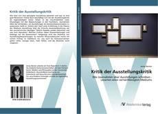 Bookcover of Kritik der Ausstellungskritik