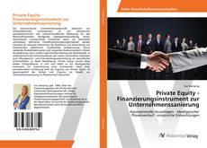 Capa do livro de Private Equity - Finanzierungsinstrument zur Unternehmenssanierung