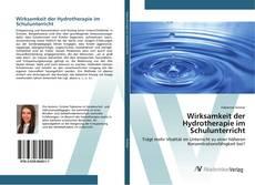 Bookcover of Wirksamkeit der Hydrotherapie im Schulunterricht