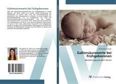 Buchcover von Gallensäurewerte bei Frühgeborenen