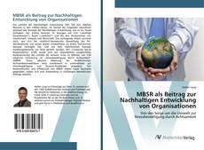 Buchcover von MBSR als Beitrag zur Nachhaltigen Entwicklung von Organisationen