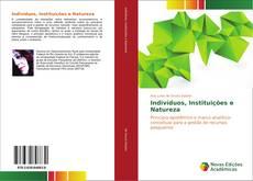 Borítókép a  Indivíduos, Instituições e Natureza - hoz