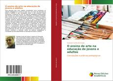 Capa do livro de O ensino de arte na educação de jovens e adultos
