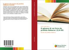 Capa do livro de O gênero Ai no livro do profeta Habacuc (2,6-20)