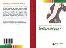 Capa do livro de Gravidez na adolescência na voz de jovens mães
