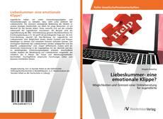 Capa do livro de Liebeskummer- eine emotionale Klippe?