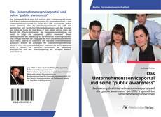 """Das Unternehmensserviceportal und seine """"public awareness""""的封面"""