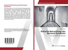 Buchcover von Kritische Betrachtung des Burnout-Syndroms