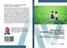 Bookcover of Kinderrechte in Einrichtungen der Kinder- und Jugendhilfe