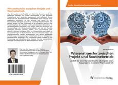 Borítókép a  Wissenstransfer zwischen Projekt und Routinebetrieb - hoz