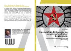 Bookcover of Eine Analyse der Freunde der sozialistischen Einheit Deutschlands