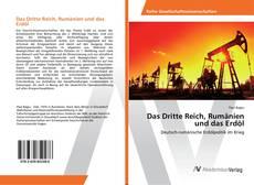 Capa do livro de Das Dritte Reich, Rumänien und das Erdöl