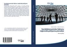 Capa do livro de Sociālekonomisko faktoru reģionālā pētījuma pieredze