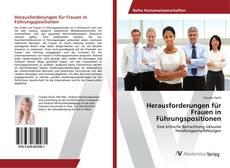 Buchcover von Herausforderungen für Frauen in Führungspositionen
