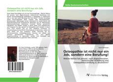 Capa do livro de Osteopathie ist nicht nur ein Job, sondern eine Berufung!