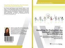 Buchcover von Vorschlag für Evaluation des Konzepts Umfassende Sprachförderung