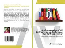 """Buchcover von Analyse von einem Teil der Übersetzung des Romans """"Wir fünf und Jumbo"""""""