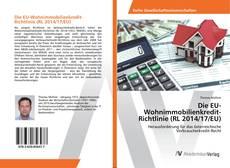 Bookcover of Die EU-Wohnimmobilienkredit-Richtlinie (RL 2014/17/EU)