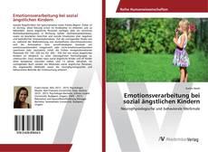 Bookcover of Emotionsverarbeitung bei sozial ängstlichen Kindern