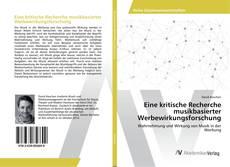 Capa do livro de Eine kritische Recherche musikbasierter Werbewirkungsforschung