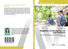 Copertina di Negation im Deutschen als DaF-Problem